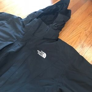 Men's Black North Face Double Lined Ski Jacket XXL